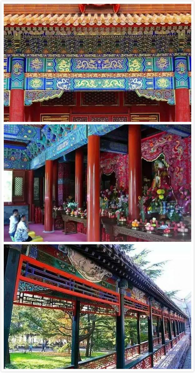 北京北顶娘娘庙旋子彩画,北京颐和园长廊苏式彩画】图片